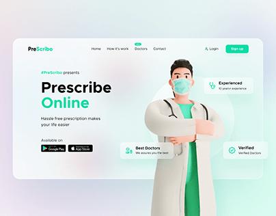 PreScribo UI design concept
