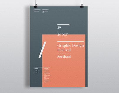 Graphic Design Festival Scotland Poster
