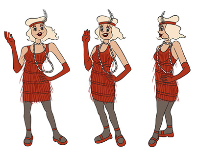 Flapper Character Designs