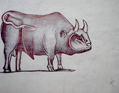 Ilustración con bolígrafo