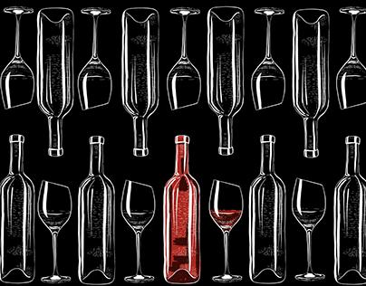 Alcohol prints. Wine