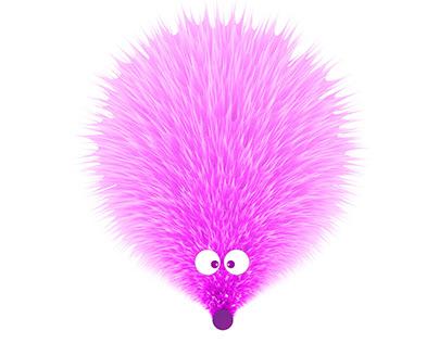 Little pink hedgehog
