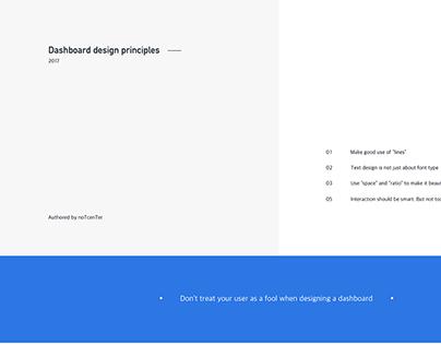 Dashboard design principles