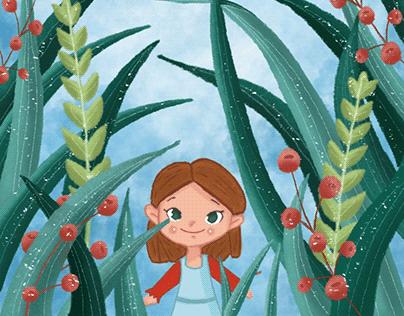 Thumbelina-Book Cover Illustration