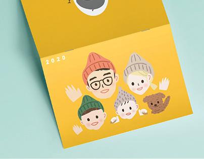 Family Calendar 我們這一家月曆設計