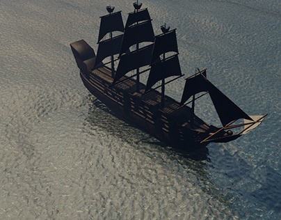 Cinema 4D Galleon