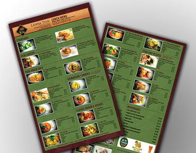 Lanna Thai Lunch Menu