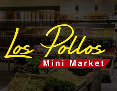 Logotipo Los Pollos - Minimarket - Piezas graficas