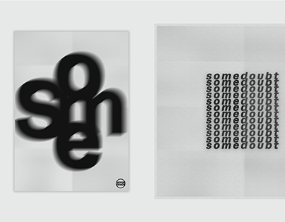 somedoubt // typographic posters