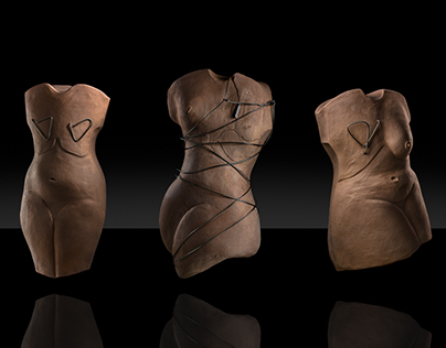 Breast cancer thematic sculptures