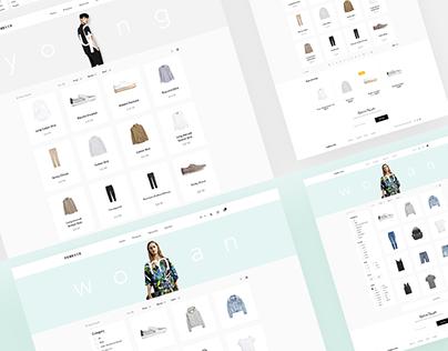 Forever Modern Fashion Theme UX / UI