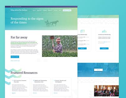 UI/UX Re-design for a non-profit organization