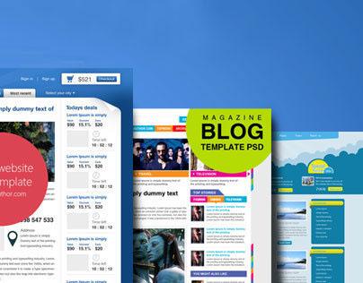 17 Beautiful Web Design Template PSD