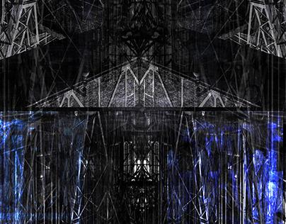Vlado Goreski, Metropolis, 105, xilogravure, 2021