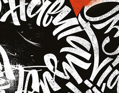 calligraphy for design studio 5 year's birthday