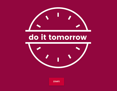 do it tomorrow - Website