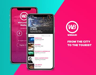 WeBari Travel App // Personal Project 2018