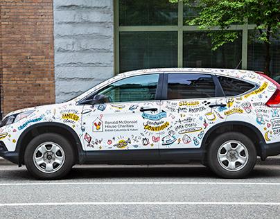 Ronald McDonald House BC Car Wrap Illustrations