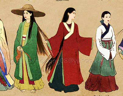 Vietnamese Historical Fashion Drawings