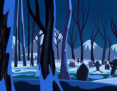 Fondos para la serie animada Ciro Todorov