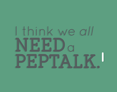 Kinetic Typography - Kid President's Pep Talk