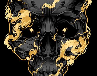 SKULL & SMOKE VECTOR ART