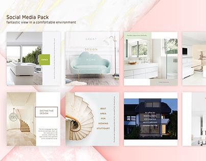 Social Media Pack - Casa property UI
