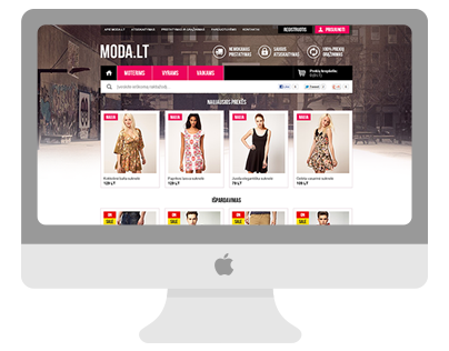 Moda: e-shop interface design