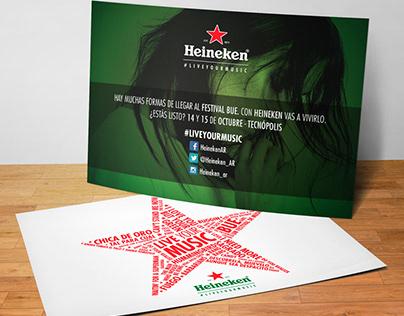 Heineken # Live Your Music · Postales y Tarjetas