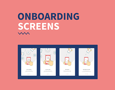 On boarding screens