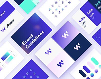 Corporate identity system for a software company Whyser