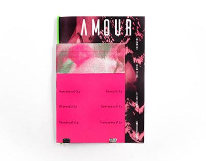 AMOUR- LGBTQ zine design
