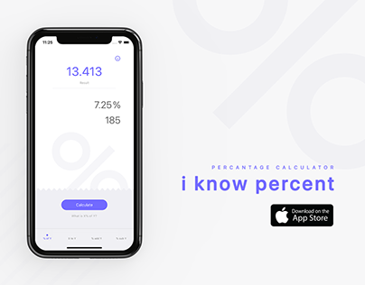 Easy Percentage Calculator for iPhone — i know percent