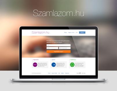 Szamlazom.hu - web app design