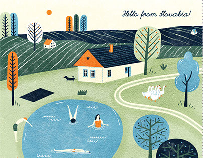 Postcard - illustration