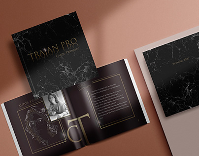 Magazine about the font and the autor Trajan Pro