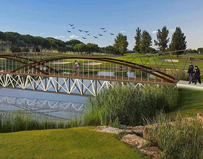 Projeto Passarela - vão de 33 metros