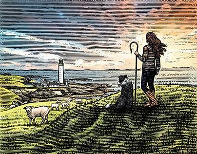 Fair Isle Logomark Illustarted by Steven Noble