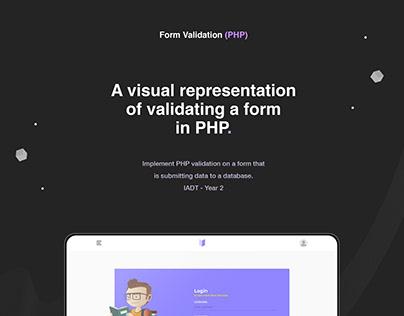 Visual Representation of PHP Form Validation