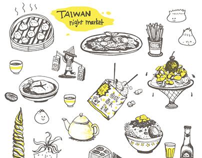 Taiwan Night Market Tote Bag