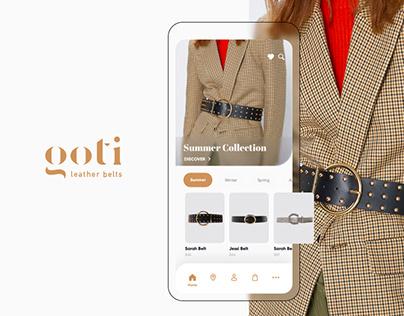 GOTI Leather Belt Mobile application