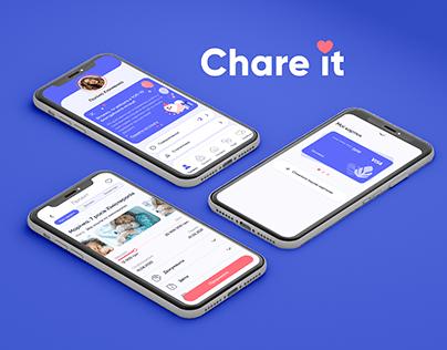 Chare it - mobile application UI/UX design