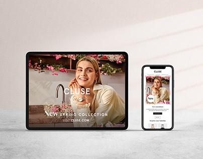 Digital campaign assets Spring '21 - designed for Cluse