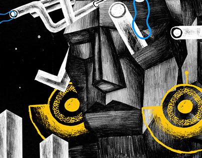 AFROFUTURISM // illustration for PISMO magazine 2018