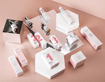 Peônia. Logo & Packages for Skin Care Products