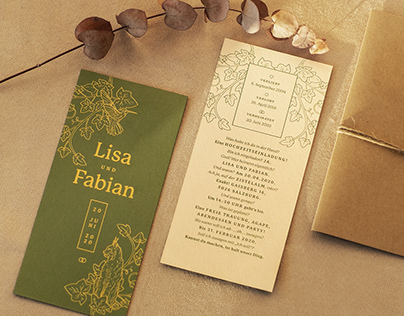 Lisa & Fabian – Wedding Invitation