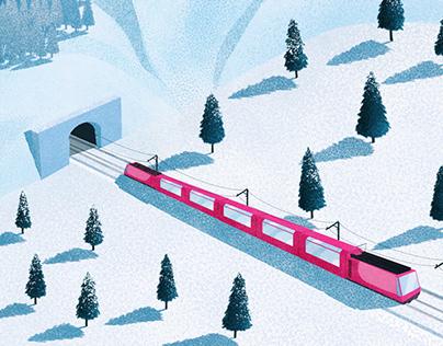 A Train Through the Snow