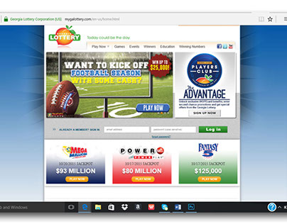 The Georgia Lottery Website on Behance