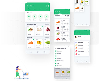 Grocery Shopping App(UX/UI)