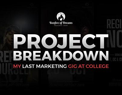 Project Breakdown - Marketing of Bonfire of Dreams